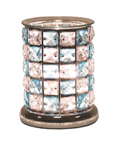 Crystal-Blue-amp-Clear-Touch-Electric-Wax-Warmer-Burner-amp-pack-of-10-Melts-3167