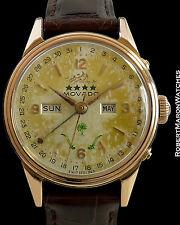 MOVADO SAUDI ARABIA UNPOLISHED 18K ROSE REF 4816 SCREW BACK ca 1950