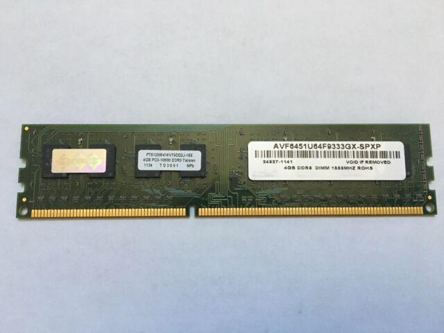 AVANT 4GB 2Rx8 AVF6451U64F9333GX DDR3 Unbuffered 1333MHz PC3-10600 Memory Module