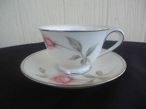 noritake-bone-china-rosemarie-tea-cup-amp-saucer-pink-and-grey-rose-6044