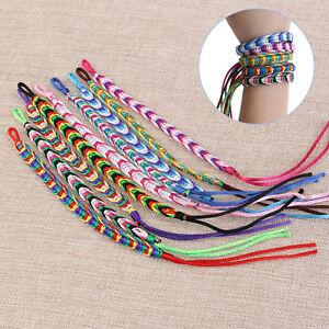 Image Is Loading 9pcs Friendship Cord Bracelets Handmade Colorful Thread Wrist