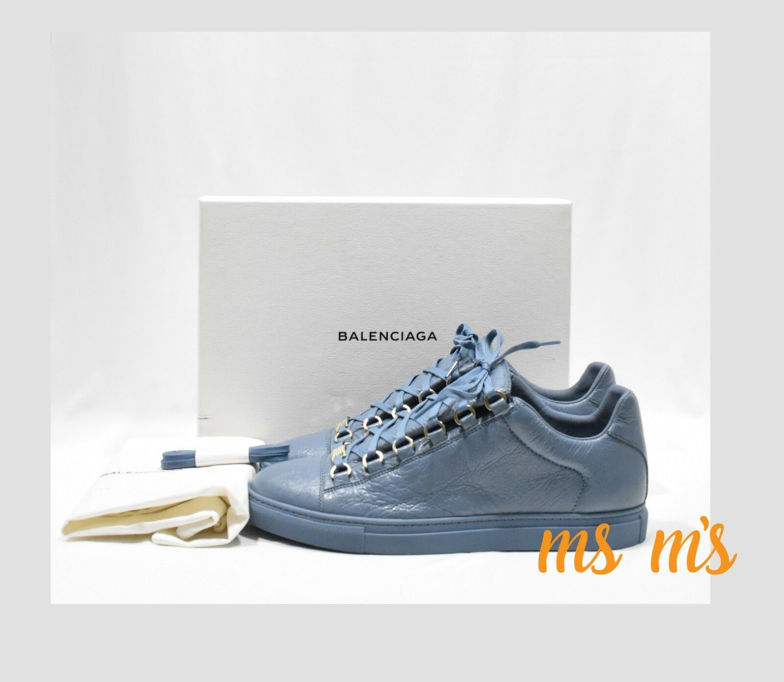 Balenciaga Arena Low Top Leather Lace Up baskets baskets baskets femmes sz US11 41EU 4092f5