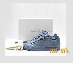 Balenciaga Arena Low Top Leather Lace Up Sneakers womens sz US11 ... f6cb7e52ca