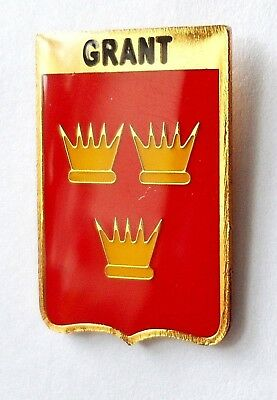 Grant Clan Scotland Scottish Family Name Crest Pin Badge