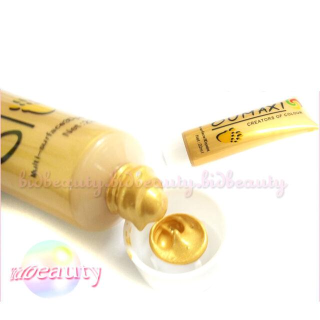 1 x Gold 3D Paints Tube Drawing Acrylic Nail Art UV Gel Set For Makeup Tips 22ml