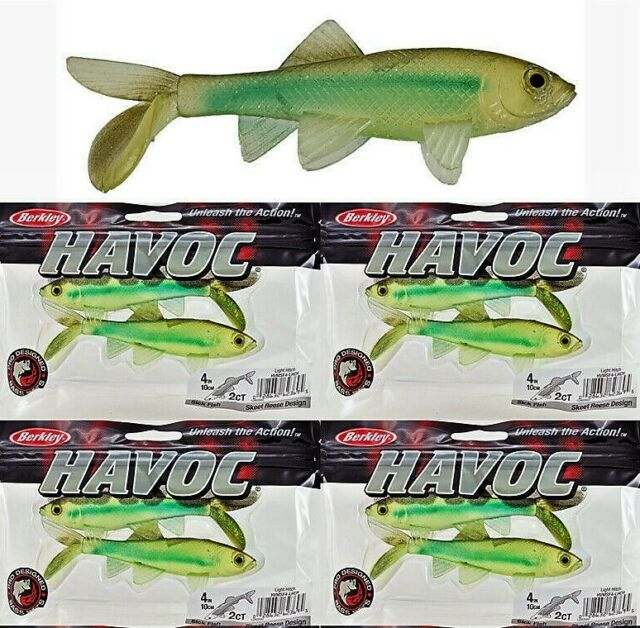 "1 package-2 lures Berkley HAVOC 4/"" Soft Tennessee Shad Sick Fish Fishing Lure"