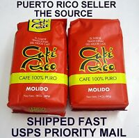 Puerto Rico Coffee Cafe Rico 2-14 Oz Bag Caribbean Hot Roasted Beverage Drink B