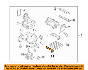 SUBARU OEM 10-12 Legacy Blower Motor Fan-Filter Cover 72254AJ05A