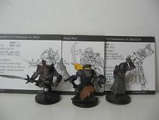 3 D&D Miniatures Archfiends 2004 Orc Raider Half-Orc Barbarian Cleric of Kord