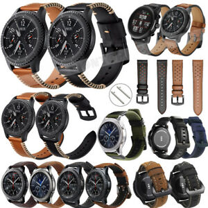 b588f625875 Leather Strap Band For Samsung Gear S3 Frontier Classic   Galaxy ...