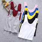 Womens Sleeveless Cami T-Shirt Summer Tank Vest Belly Crop Tops Blouse Tops