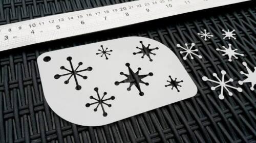 Noël noël flocons de neige airbrush stencil carte fenêtre visage corps gâteau décoration