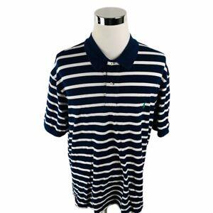 Vintage-Polo-Ralph-Lauren-Blue-Striped-Short-Sleeve-Polo-Shirt-Mens-3XB-BIG