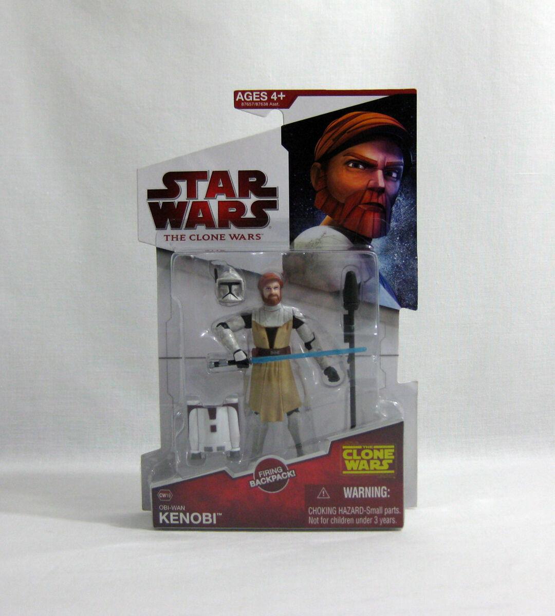 NEW NEW NEW 2009 Star Wars ✧ Obi-Wan Kenobi ✧ Animated Clone Wars CW19 MOC 21e45c