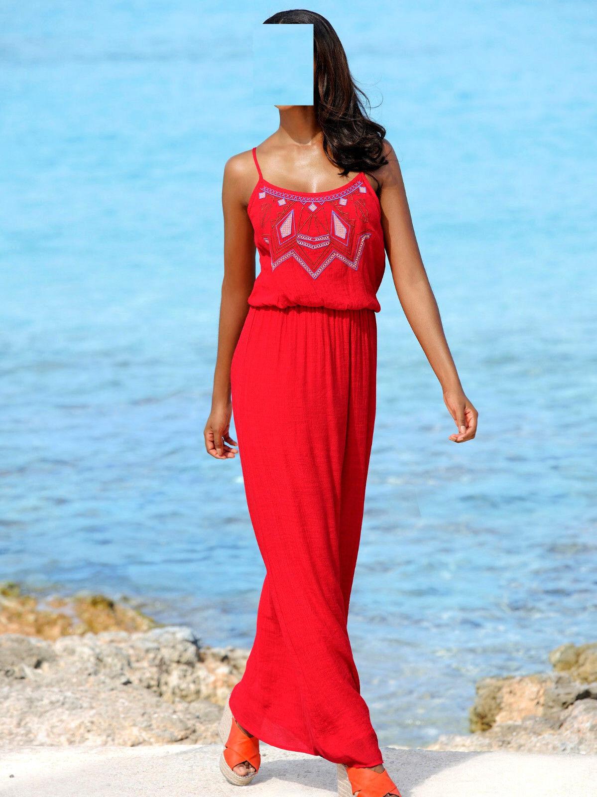 Marken langes Kleid rot Gr. 46 0518685907
