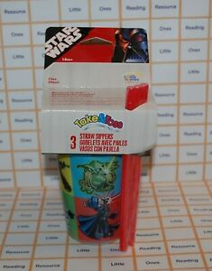 Star-Wars-SIPPY-CUPS-The-First-Years-TAKE-amp-TOSS-Straw-Sippers-10-ounce-3-Count
