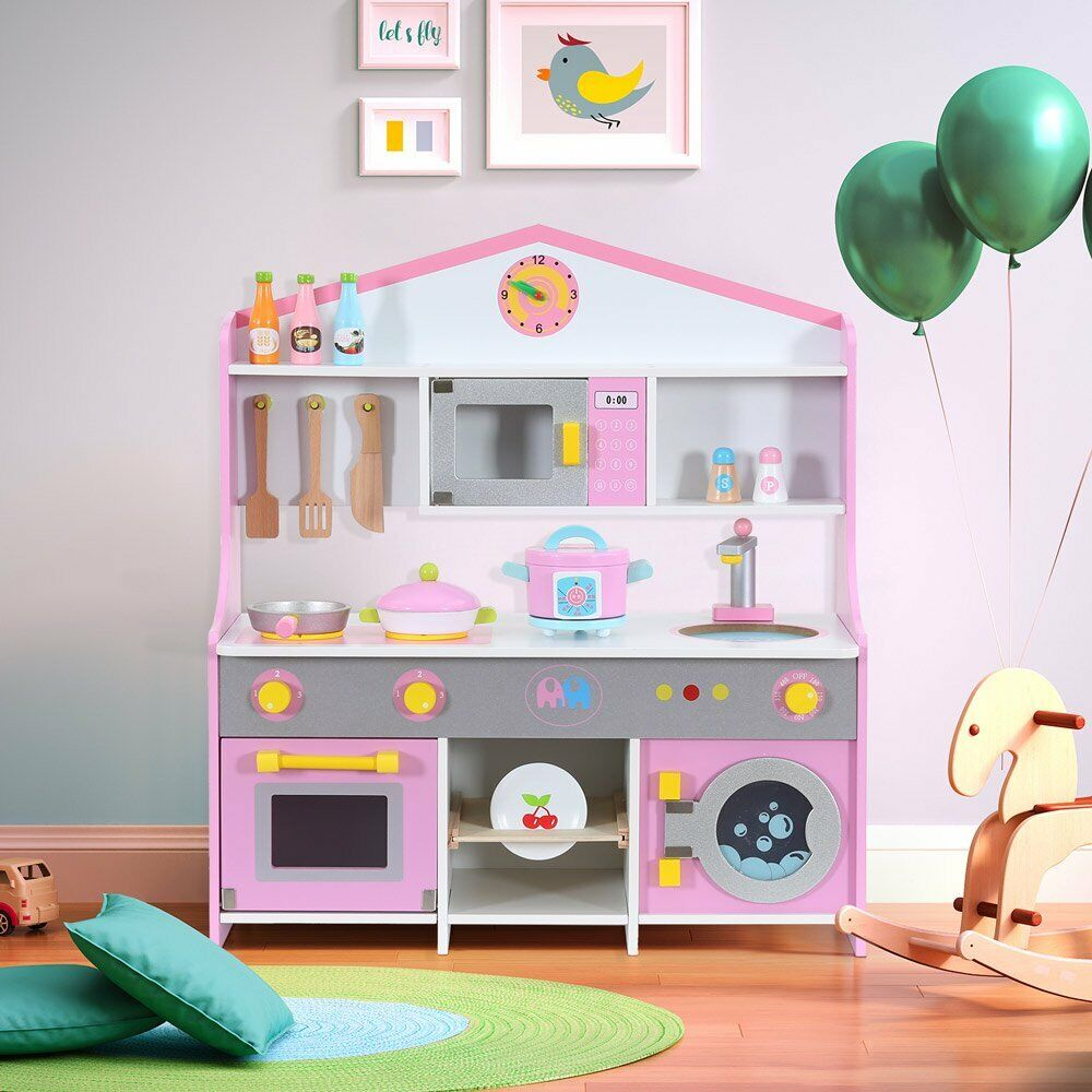 Kids Toy Kitchen Large Children Wooden