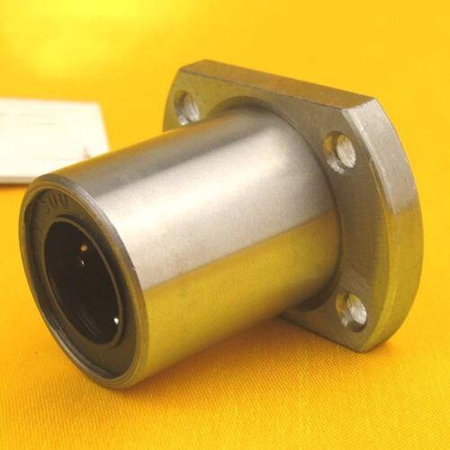 1Pcs LMH16UU Oval Flange Router Shaft Linear Motion Bearing Bushing 16*28*37mm