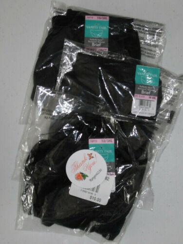 3 Vanity Fair Black Nylon Women/'s Brief 15712 Panty 5 6 7 8 Plus 9 10 11 12 NWT