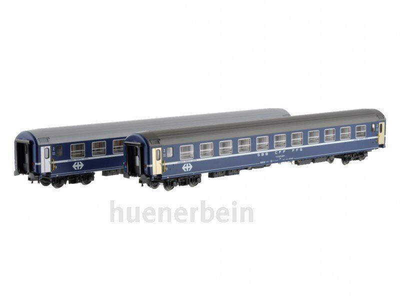 LS Models 47330 2x SBB SBB SBB CFF FFS 2.Kl. Liegewagen UIC-X Bcm blau Ep.4-5 NEUOVP  | Die Farbe ist sehr auffällig  127825