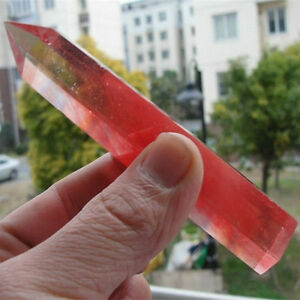 Natural-Rare-Red-Quartz-Crystal-single-Terminated-Wand-Point-Healing-Specimen