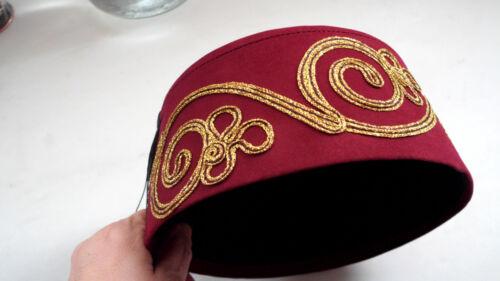 Green Turcs FEZ FES Tarboosh Cône Exotic Ottoman Chapeau Tommy Cooper Dr Who