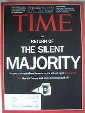 TIME MAGASINE OCTOBER 24 2011  RETURN OF THE SILENT MAJORITY ..KEPT LIKE  NEW!