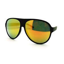 Mens Retro Classic Plastic Frame Mirror Lens Aviator Police Cop Pilot Sunglasses