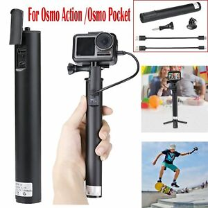 For-DJI-Osmo-Action-Pocket-Extended-Charger-Charging-Handle-Adapter-2x-Cable