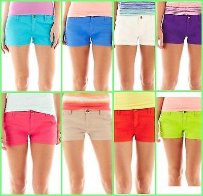 "36/"" Waist Size 13  - Purple NWT Women/'s Juniors Arizona Shortie Shorts"