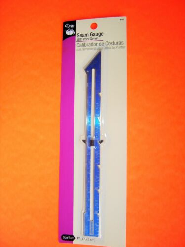 Dritz Sewing Quilting Hem Gauge 7 inches long # 658 with a Point Turner