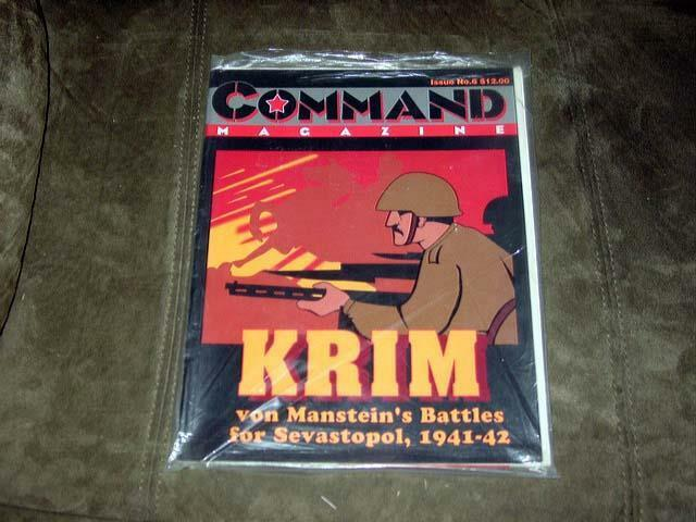 Command Magazine 1990 -  6 - KRIM game - Sevastopol 1941-42 Crimea   (Unpunched)
