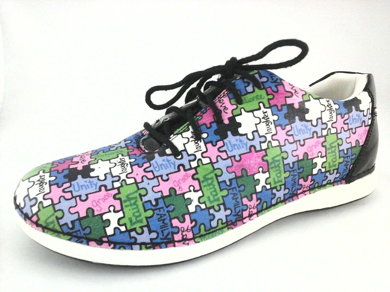 ALEGRIA Sneakers ALL TOGETHER Schuhes PUZZLE MULTI MULTI MULTI Comfort Damenschuhe US 9.5/10 EU 40 aa7f34