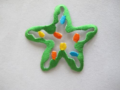 "#4229 2-1//4/"" Green Ocean Starfish Embroidery Iron On Applique Patch"