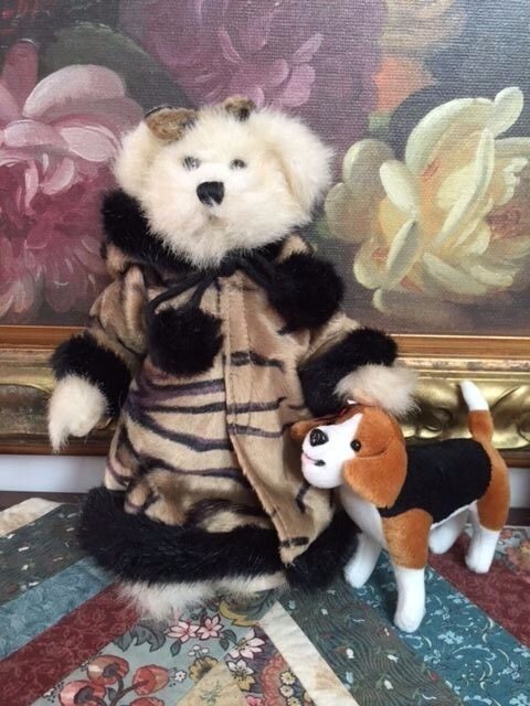 Creature Comforts Bear Walking Beagle Dog Fully Jointed 10in. Tiger Striped Coat