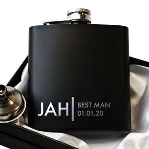 Groomsmen-Gift-Best-Man-Gift-Black-Hip-Flask-With-optional-Gift-Box-set-HF4