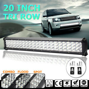 Tri-Row 20''INCH 315W LED Work Light Bar Spot Flood Combo Offroad Pickup SUV ATV