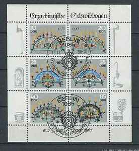 Germany - DDR : Chandeliers sheet from 1986 - CTO -  APO, Deutschland - Germany - DDR : Chandeliers sheet from 1986 - CTO -  APO, Deutschland