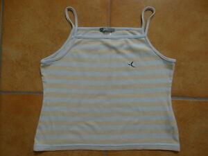 cooles-Sommershirt-Sommertop-Top-T-Shirt-Gr-M-DOMYOS-Farbe-blau-100-Baumwolle