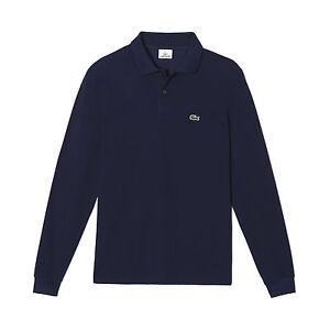 Sleeve Polo 166 Manica L1312 Maglia Shirt Lacoste Long Cotone Marine Lunga xRZqaq0w7