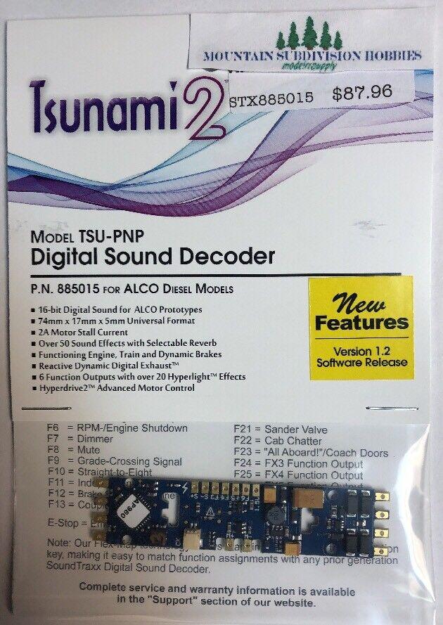 Soundtraxx Tsunami 885015 2 Tsu-PNP Alco Diesel Decodificador de Sonido V1.2 modelrrsupply