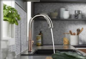 Details About Sale Kohler Sensate K 72218 3tr Kitchen Faucet Ombre Rose Polished Nickel