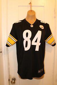 NIKE Pittsburgh Steelers NFL Antonio Brown #84 Black Jersey Youth Large (14-16)