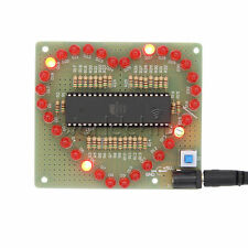Red Diy Kit Love Heart Shaped Led Light Water Electronic Suite Set Gift