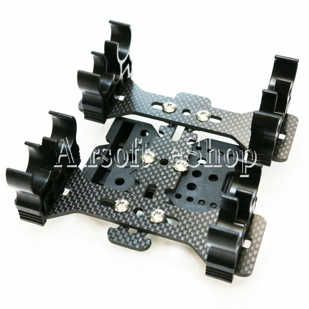 Airsoft APS 2x Quad-Load Shotshell Caddy System With Belt Loop negro