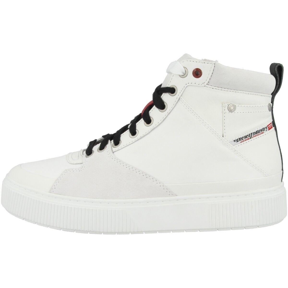 DIESEL S-Danny Mc Scarpe tempo libero High Top scarpe da ginnastica STAR bianca y01797-pr319-t1015