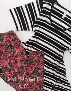 Leggings Lularoe Rose Tc M T Bianco Nero Perfect Stripe Outfit Unicorn Nwt 8g8qOwWR