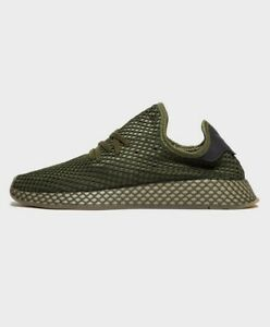 941527779d3 Details about Adidas Deerupt Runner Trainers Size UK 8 BNIB New UK Base  Green Brand New Boxed