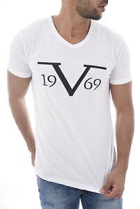 bcde59dd VERSACE 1969 Large Logo White V Neck T-Shirt Sizes S M L XL XXL BNIB ...