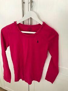 Ralph-Lauren-Polo-Girls-long-sleeve-t-shirt-top-dark-pink-XL-age-16-small-si